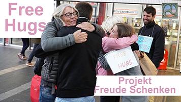 Menschen umarmen sich