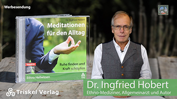 """Dr. Ingfried Hobert mit seiner CD """"Meditationen für den Alltag"""""""