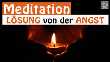 Hände mit Meditationskerze - Meditation Lösung von der Angst