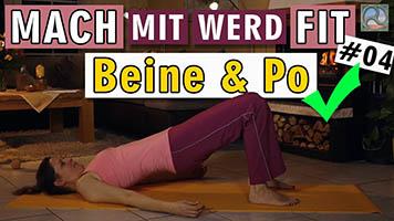 Übungen für Beine und Po mit Antje Tittelmeier
