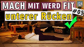 Übungen für den unteren Rücken mit Antje Tittelmeier