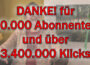 Antje Tittelmeier bedankt sich für 20.000 Abonnenten und 3.400.000 Klicks