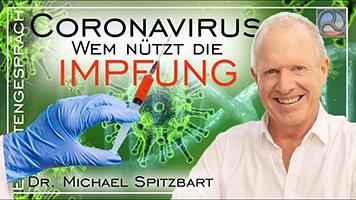 Coronaviren und eine Spritze zur Impfung