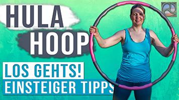 Antje Tittelmeier mit Hula-Hoop-Reifen